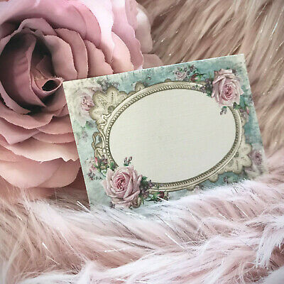 £3.20 • Buy Shabby Chic Flat Placecards Floral Name Cards Wedding Place Setting Floral Pink