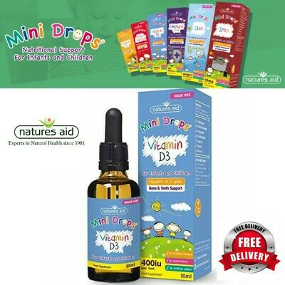 £6.99 • Buy Natures Aid Vitamin D3 Mini Drops For Infants And Children Sugar Free UK 50 Ml