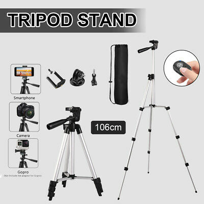 AU17 • Buy Professional Camera Tripod Stand Mount & Phone Holder For Phone IPhone Samsung
