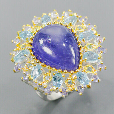 £69.96 • Buy 150Us Expensive Stone Tanzanite Ring Silver 925 Sterling  Size 8.5 /R159315