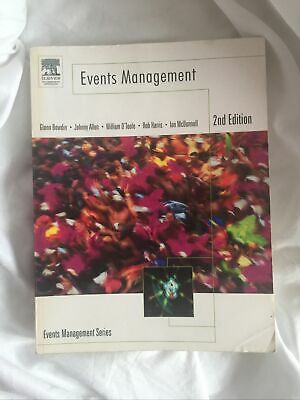 £4.50 • Buy Events Management 2nd Edition - Glenn Bowdin, Johnny Allen, William O'Toole, Etc