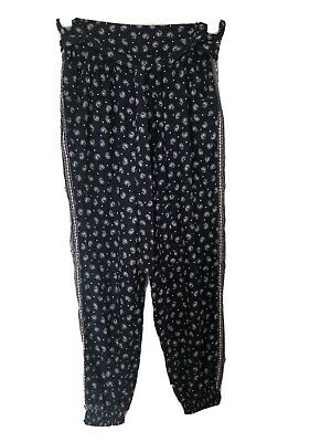 £13 • Buy Monsoon Blue Patterned Trousers Size M 12/14