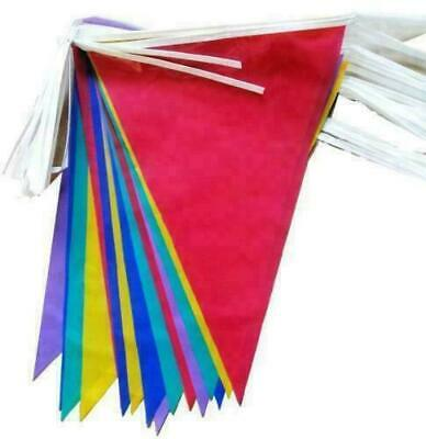 £1.59 • Buy 10Meter 20Flags Multi Colour Banner Fete Bunting Party Home Garden Decoration Uk