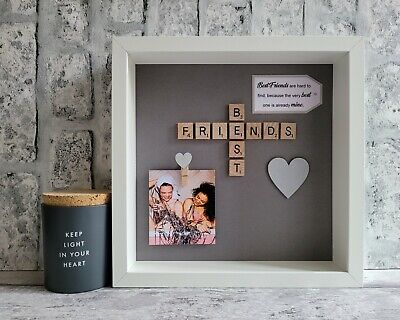 £25 • Buy (d) Scrabble Picture Box Photo Frame Word Art Best Friend Friends Personalised