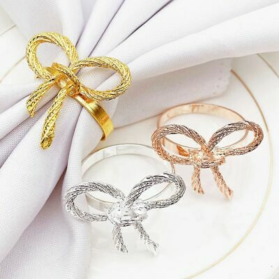 £4.35 • Buy Butterfly Napkins Ring Gold Napkin Rings Holder For Wedding Party Table Decor