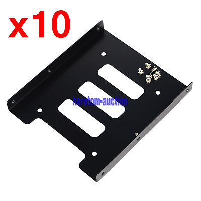 AU36.98 • Buy 10x 2.5  To 3.5  Adapter Bracket SSD HDD Hard Drive Mounting Tray Bay Caddy