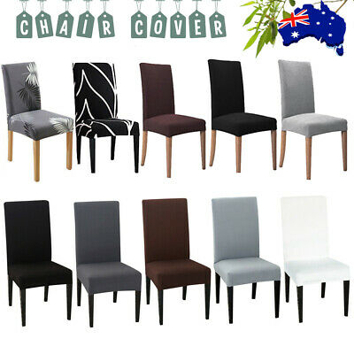 AU3.56 • Buy Stretch Dining Chair Seat Covers Spandex Lycra Washable Banquet Wedding Party AU