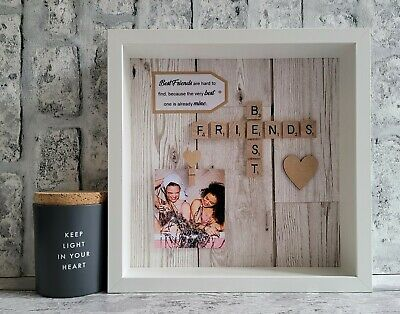 £25 • Buy (f) Scrabble Picture Box Photo Frame Word Art Best Friend Friends Personalised