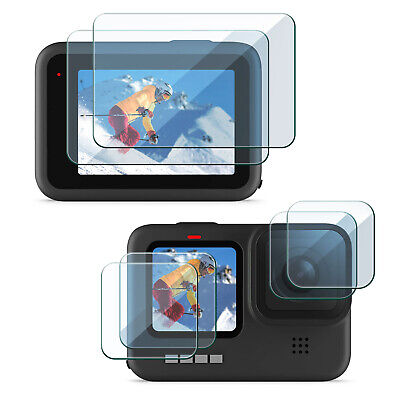 $ CDN12.58 • Buy 6 Pcs Tempered Glass Len And Screen Protector Compatible With GoPro Hero 9 Black