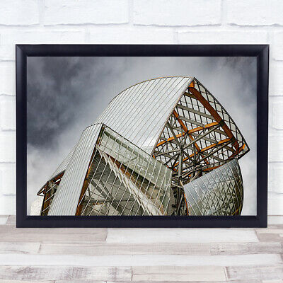 £35.99 • Buy Architecture Paris Building Modern Abstract Louis Vuitton France Wall Art Print