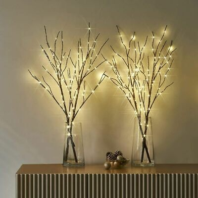 £13.89 • Buy Romantic Twigs With LED Waterproof Bead Lights Branch Decorative Fairy Twig Lamp
