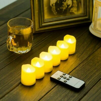 £11.89 • Buy Remote Control LED Flickering Flame Lamp Battery Wax Candle Tea Lights W/ Timer