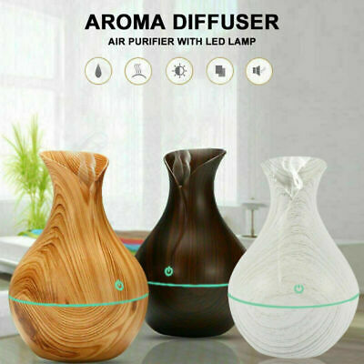 £9.59 • Buy 7 Color LED Ultrasonic Humidifier Room Aroma Essential Oil Diffuser Air Purifier