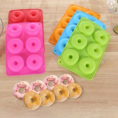 AU5.93 • Buy Silicone Donut Mold Donut Mould Pan Baking Tray Bagels Cake Biscuit Muffins1pcs