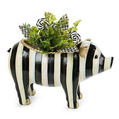 $159.95 • Buy NEW Mackenzie Childs Adorable 13  COURTLY STRIPED PIG Hand-Painted Resin