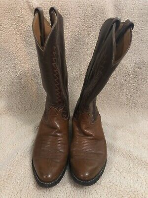 $24.99 • Buy Tony Lama 6210 Stallion Brown Leather Cowboy Western Size 8.5D Boots