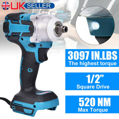 £18.99 • Buy 18V Cordless Impact Brushless Wrench Driver Torque Replace For Makita Battery UK