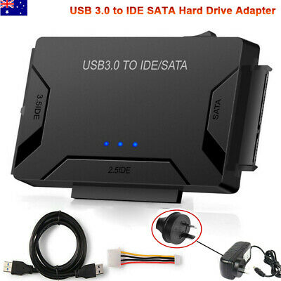 AU34.99 • Buy USB 3.0 To 2.5 /3.5 IDE SATA Hard Drive Disk Converter External HDD/SSD Adapter