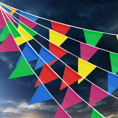 £12.89 • Buy 200M Triangle Flags Bunting Banner Pennant Festival Wedding Party Garden Decor