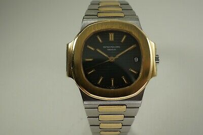 £28807.48 • Buy Patek Philippe 3800/1 Naultius Stainless Steel And Gold Dates 1980's