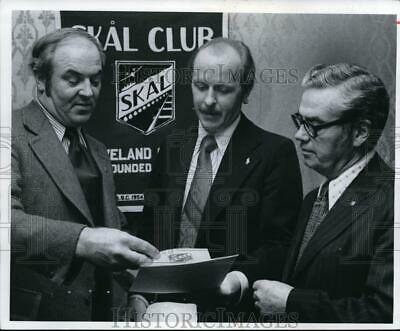 $ CDN17.61 • Buy 1974 Press Photo Barney Moloney, W.J. Roese And Ray Wanink Skal Club Officers