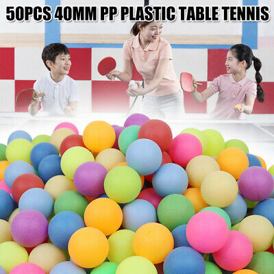 AU11.99 • Buy 50Pcs Colored Ping Pong Balls 40mm Mixed Colours No Logo Table Tennis Game Toys