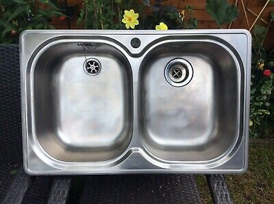 £35 • Buy FRANKE Double Bowl Quality Stainless Steel Sink Preowned