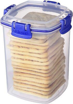£5.19 • Buy Cracker Keeper Tupperware Container Plastic Box Storage Save Biscuits Seal Clips