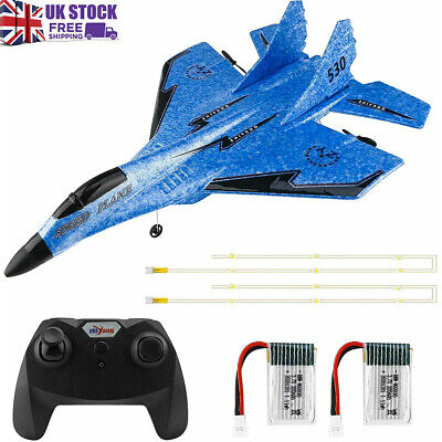 £35.99 • Buy 2.4GHz Remote Control Aircraft RC Airplanes Plane Aeroplane Toy With LED Light