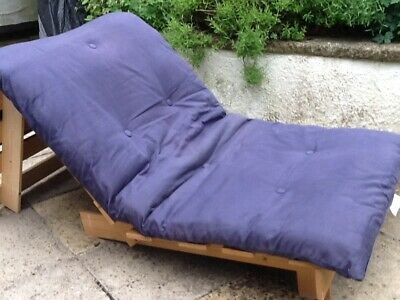 £19.50 • Buy Futon, With Pine Base And Blue Removable Cover, Single Size