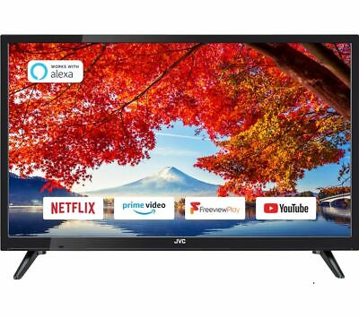 £129.99 • Buy JVC LT-24C605 24  Smart HD Ready HDR LED TV With Built-in DVD Player