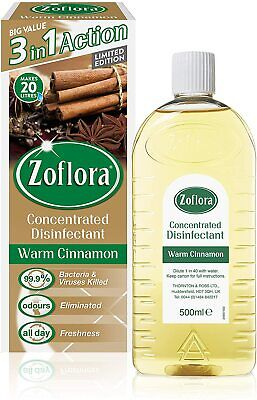 £5.60 • Buy Zoflora Warm Cinnamon Concentrated Antibacterial Disinfectant, 3 In 1 500ml,