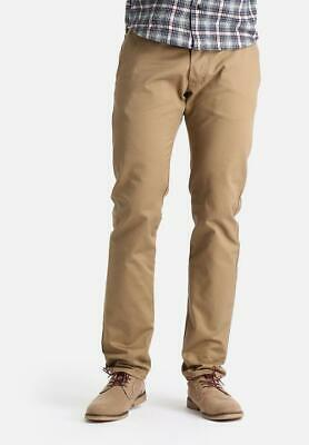 £50 • Buy BNWT Mens Edwin Natural Skinny Chinos Trousers Cotton Beige W34 L33