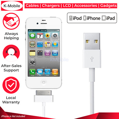 AU3.49 • Buy USB Data Charger Cable For Apple IPhone 4S 4 3GS IPod Touch IPad 2 3 Sync Cord