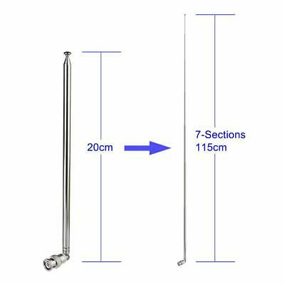 £5.85 • Buy Telescopic BNC Antenna For Mobile Transceiver Two Way Radio Police Radio Scanner