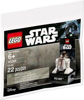 £4.99 • Buy LEGO STAR WARS R3-M2 Astromech Droid Set With Stand 40268 Polybag - Brand New
