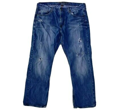 $19.99 • Buy American Eagle Outfitters Mens Jeans Size 38 X 32 Classic Boot Cut Distressed