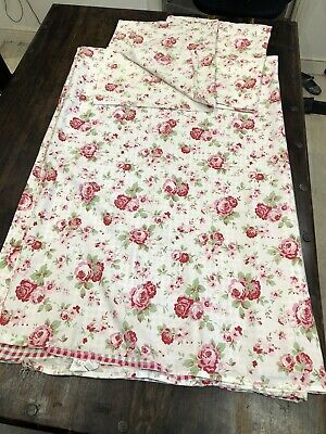 £34.99 • Buy Cath Kidston Rosali Ikea Double Bed Set And 2 Pillowcases