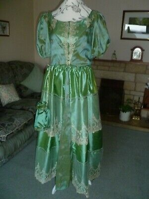 £22 • Buy Ball Gowns Size 14 VICTORIAN STYLE IN GREEN TAFFETA Full Length