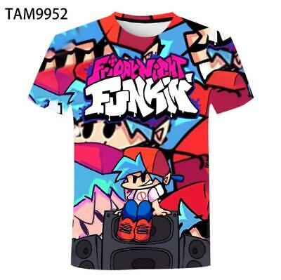 £10.50 • Buy Game Friday Night Funkin 3D Printed T-shirt Unisex Adults Short Sleeve Tee Tops
