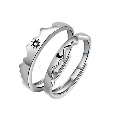 AU4.82 • Buy 1 Pair Sun And Moon Lover Couple Rings Set For Him And Her Valentines Day Gifts