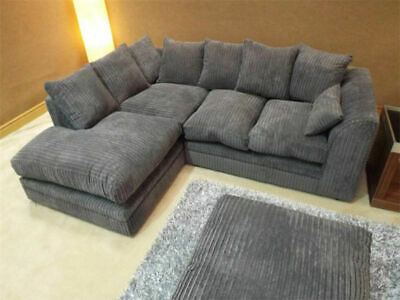 £399 • Buy Brand New Corner Or 3 Seater And 2 Seater Sofa Settee Couch In Black Grey Brown