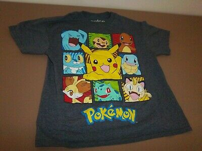 $7.50 • Buy POKEMON  CHARCOAL HEATHER SHIRT ~ BOYS ~ SIZE XS ~ Excellent Used Condition