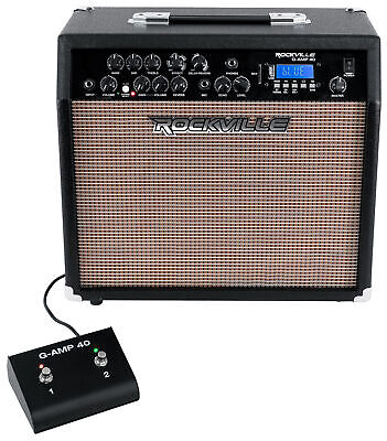 £115.35 • Buy Rockville G-AMP 40 Guitar Combo Amplifier Amp Bluetooth/Mic In/USB/Footswitch