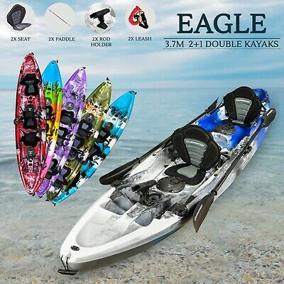 AU770 • Buy Double Fishing Kayak Tandem 2018 2 Person Sit On Top Seat Paddle Melbourne Blue