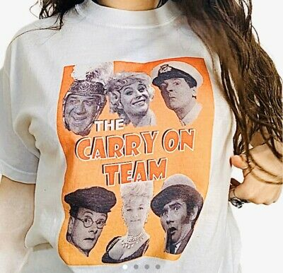 £7.99 • Buy Vintage 90s The Carry On Team T Shirt Size Men's Small