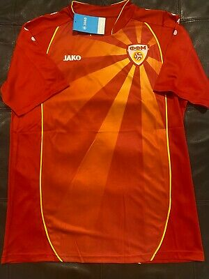 $39 • Buy JAKO Brand NORTH MACEDONIA NATIONAL TEAM SOCCER JERSEY Sz LARGE  NEW W TAGS