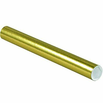 $98.24 • Buy Tape Logic TLP2018GO Mailing Tubes With Caps 2  X 18  Gold Pack Of 50