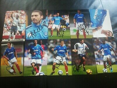 £8.99 • Buy 10 Signed 6x4 Photos Of Portsmouth Fc, Mullins, Basinas,Richie, Brown, Smith