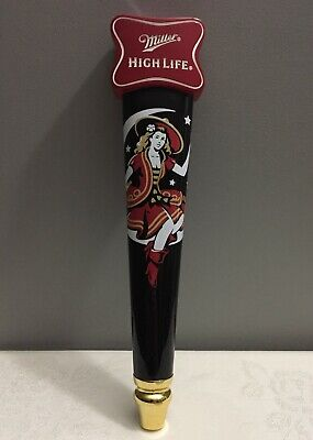 $79.99 • Buy Miller High Life Lady Girl Sitting In The Crescent Moon Beer Tap Handle Mancave
